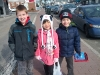 My little eager Evangelist helpers (from left-to-right) our friend Zack, Gabriella, and Caleb