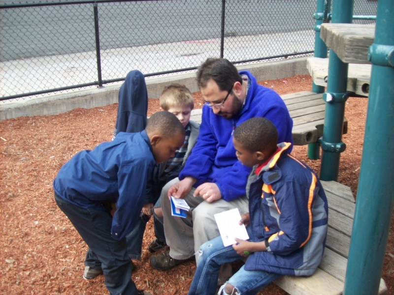I love this photo. I got to chat with Mason, Treyvon, and Treshawn after Wednesday's meeting. I walked them through a gospel booklet that we use with children, asking them questions on every page. I believe, from their answers, that they understood the message. What an honor to share Christ!!!