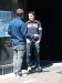 Steve chatting with a young man on the streets of Boston.
