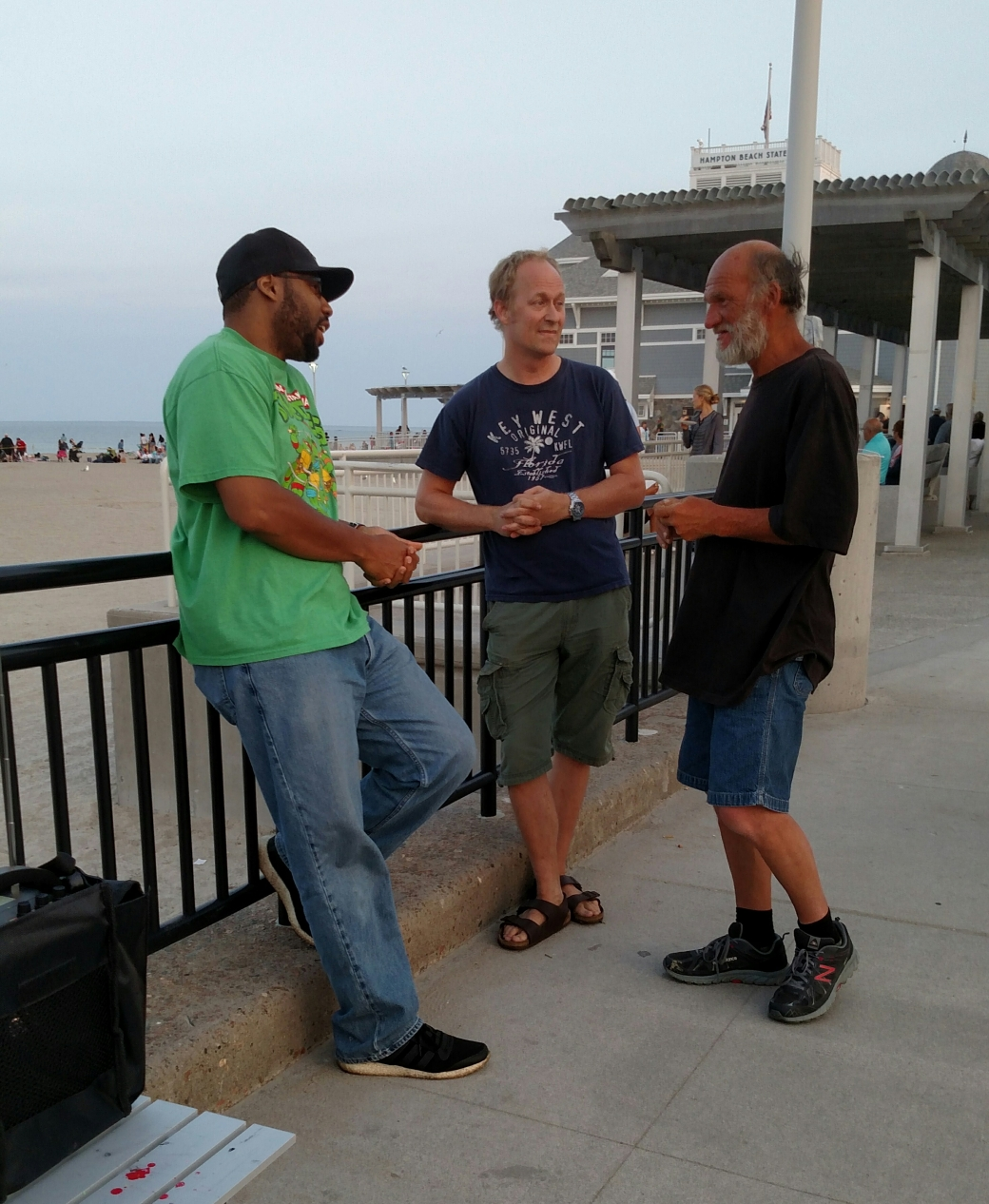Pastor Kaynenn from New York was in town, and he and Chris had a fruitful conversation with this man.