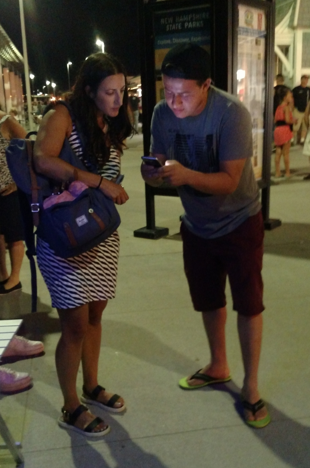 Nadia did such a good job that this man wanted to look up Scripture on the spot on his phone!