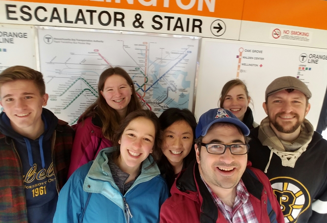 The day finally came to bring the students to the subway to put their new evangelism skills into practice. One of the teachers from the school came too!