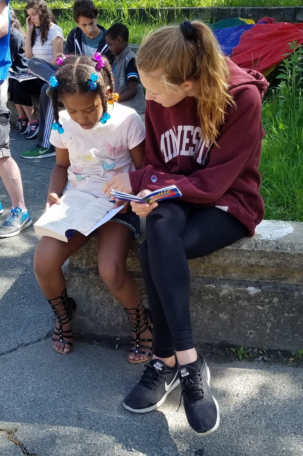 This girl wanted a Bible, so we gave her one, and she was so happy to open it up! Please pray that she reads it everyday like we suggested she should!