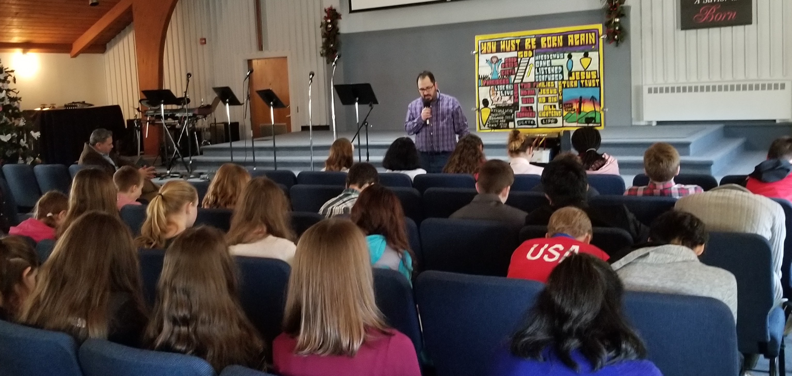 I got to be the Chapel Speaker for the Middle School Students at Abundant Life Christian School in Wilmington, Massachusetts. It was my first time at this school, and it was amazing. This photo shows the students praying with me at the end of my message. Fantastic kids!