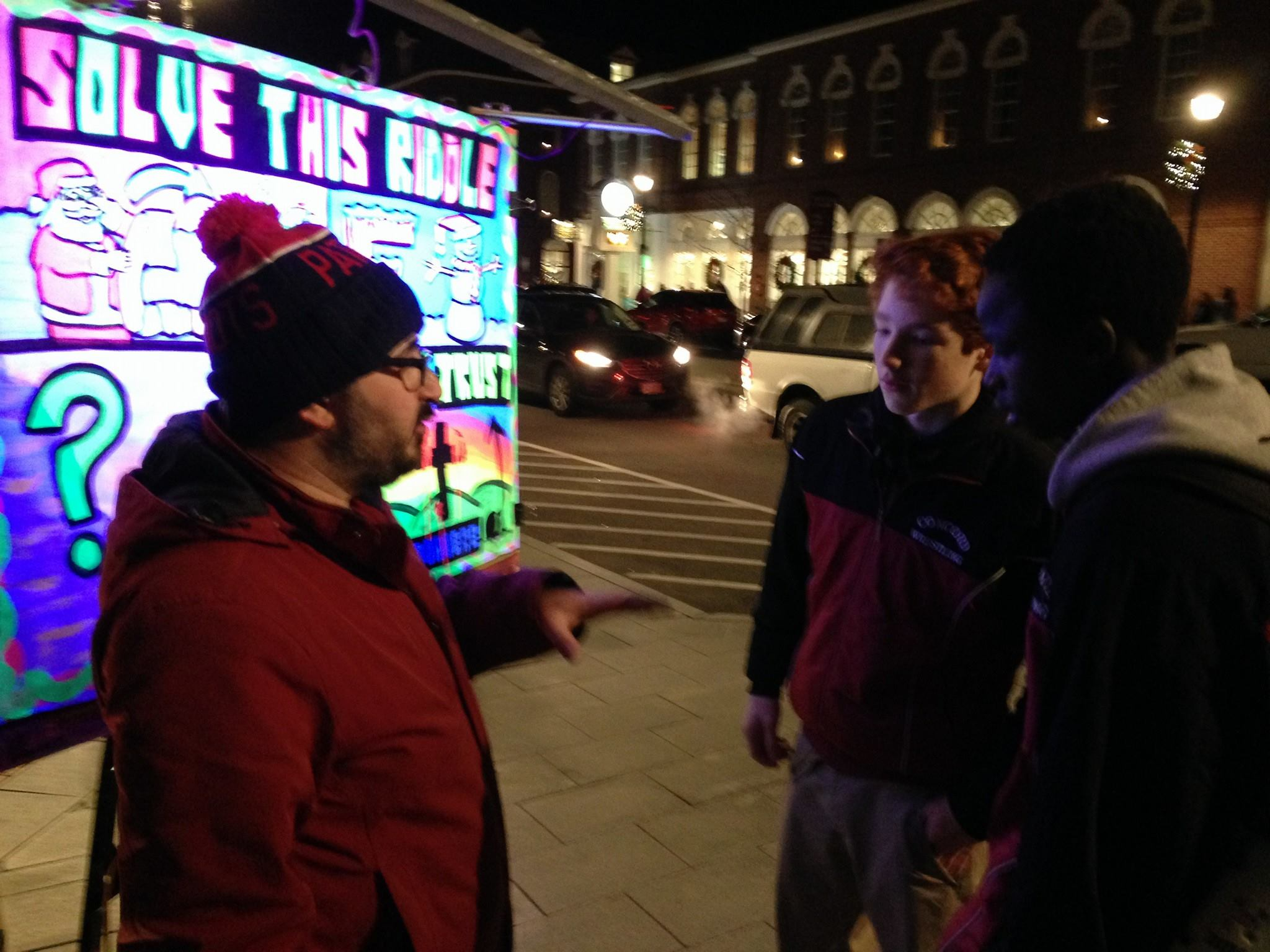 It was worth freezing outside to talk to nice folks, like these high-schoolers!