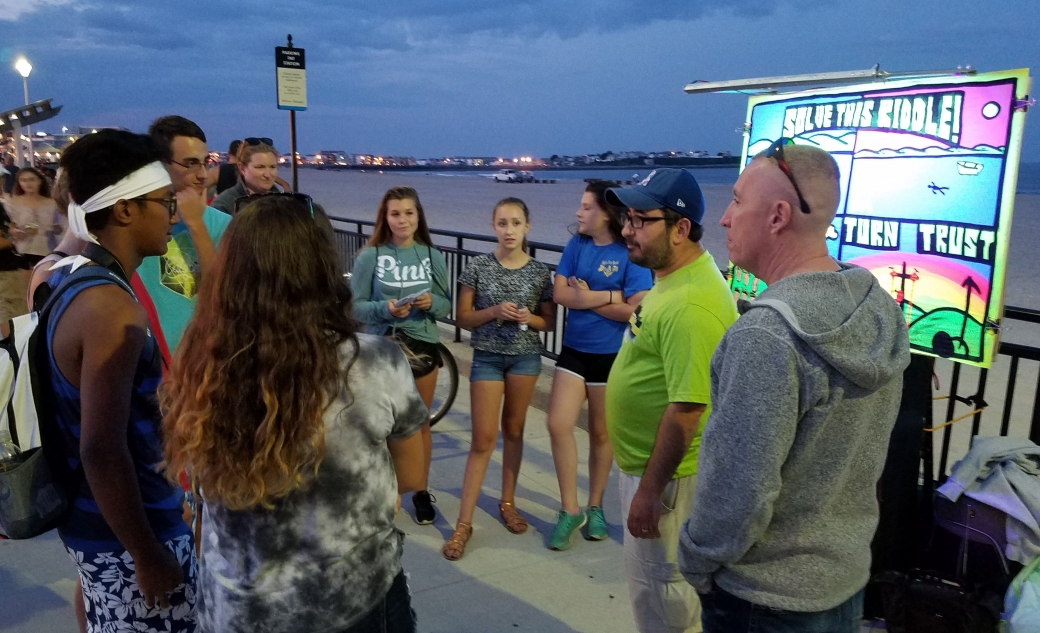 Teens often comb the beach in packs, but they are some of the most open and tender-hearted people you will meet. I love it when I get to chat with groups of teens!