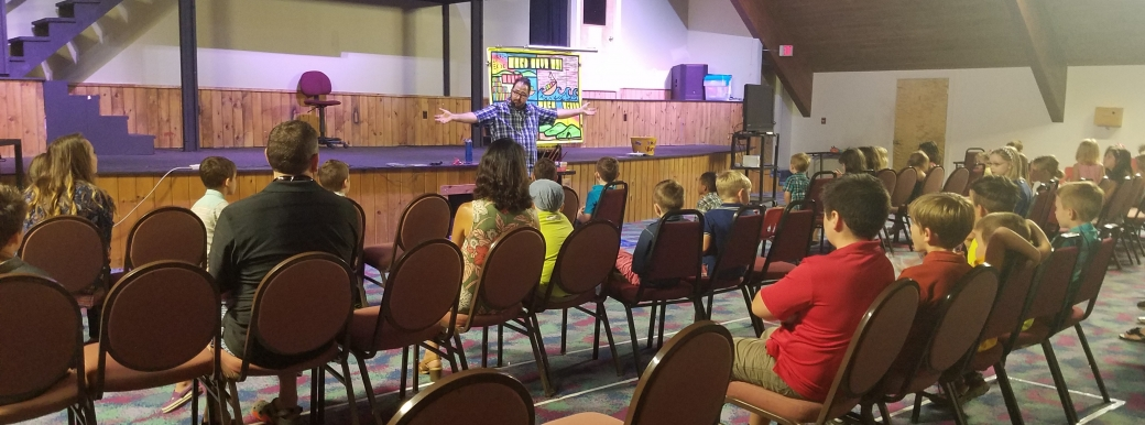 On the drive home from camp, I got to stop at one of my favorite churches and preach at two different kids services. What a blessing! There's nothing better than being used by Jesus, and Jesus loves reaching kids. Praise God!