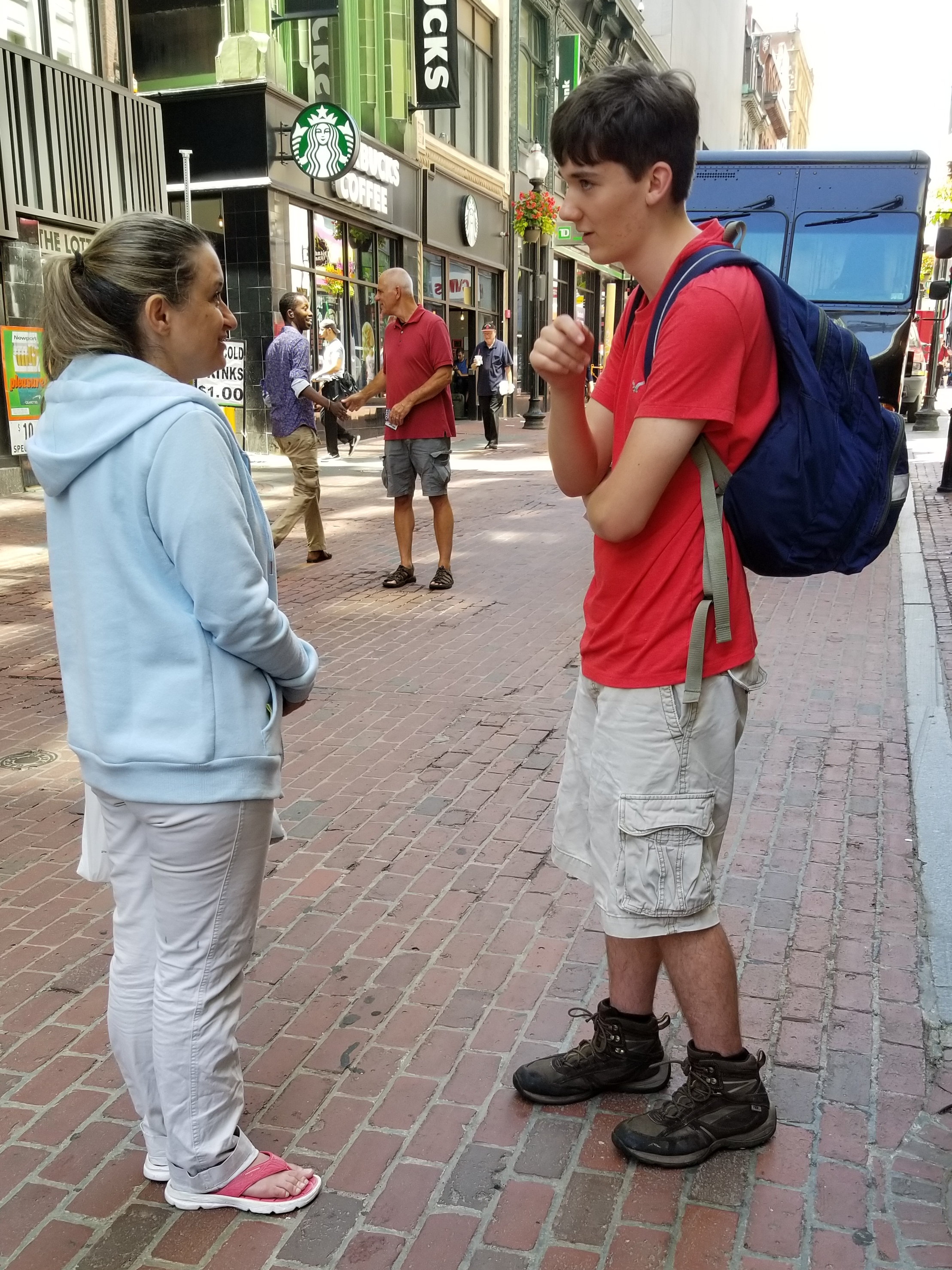 Spencer was fearless talking with strangers about Jesus. He was a true encouragement!