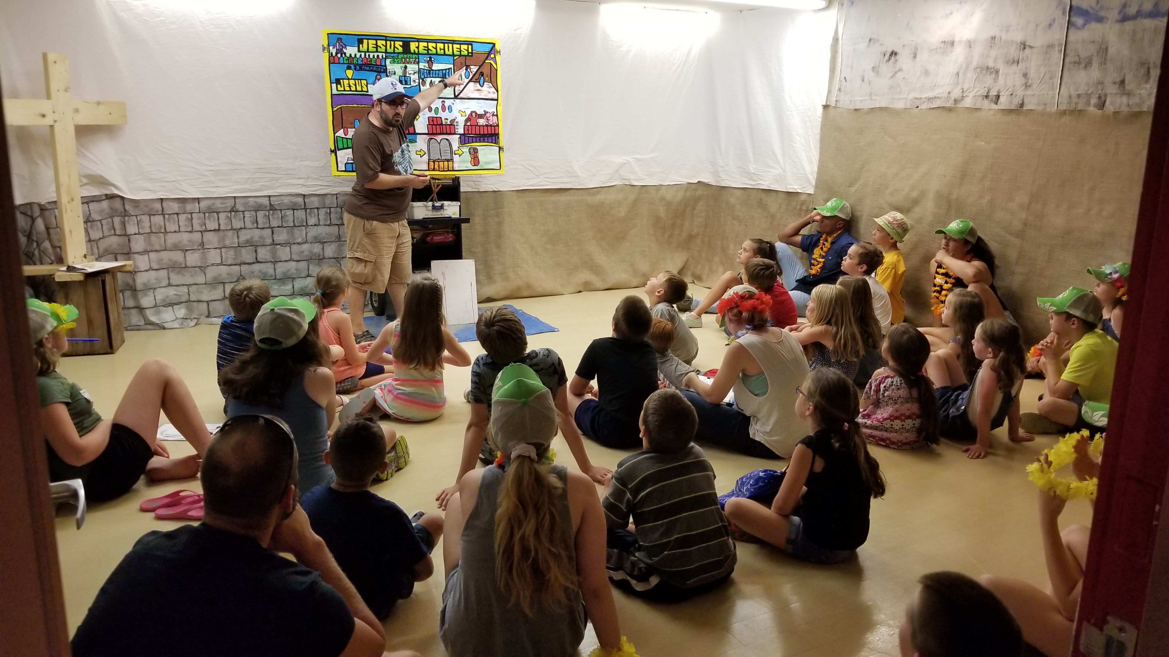 Night #1 of VBS. This was a new Church for me, and I was so happy to have been invited to help with their outreach!