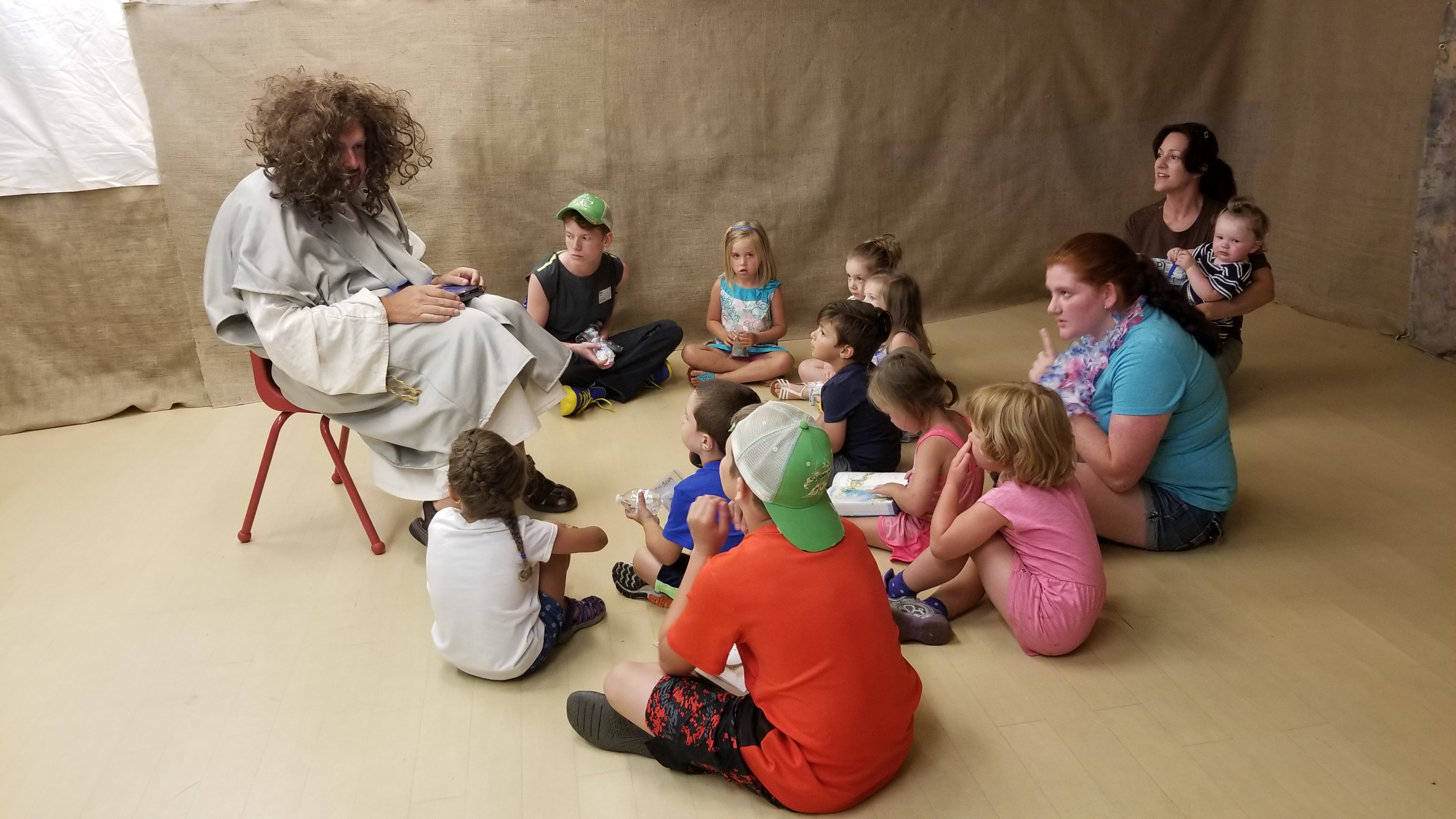 Thad (the big guy in the wig) is a good friend of mine, and I LOVED watching him teaching the really little kids. And that outfit!!!