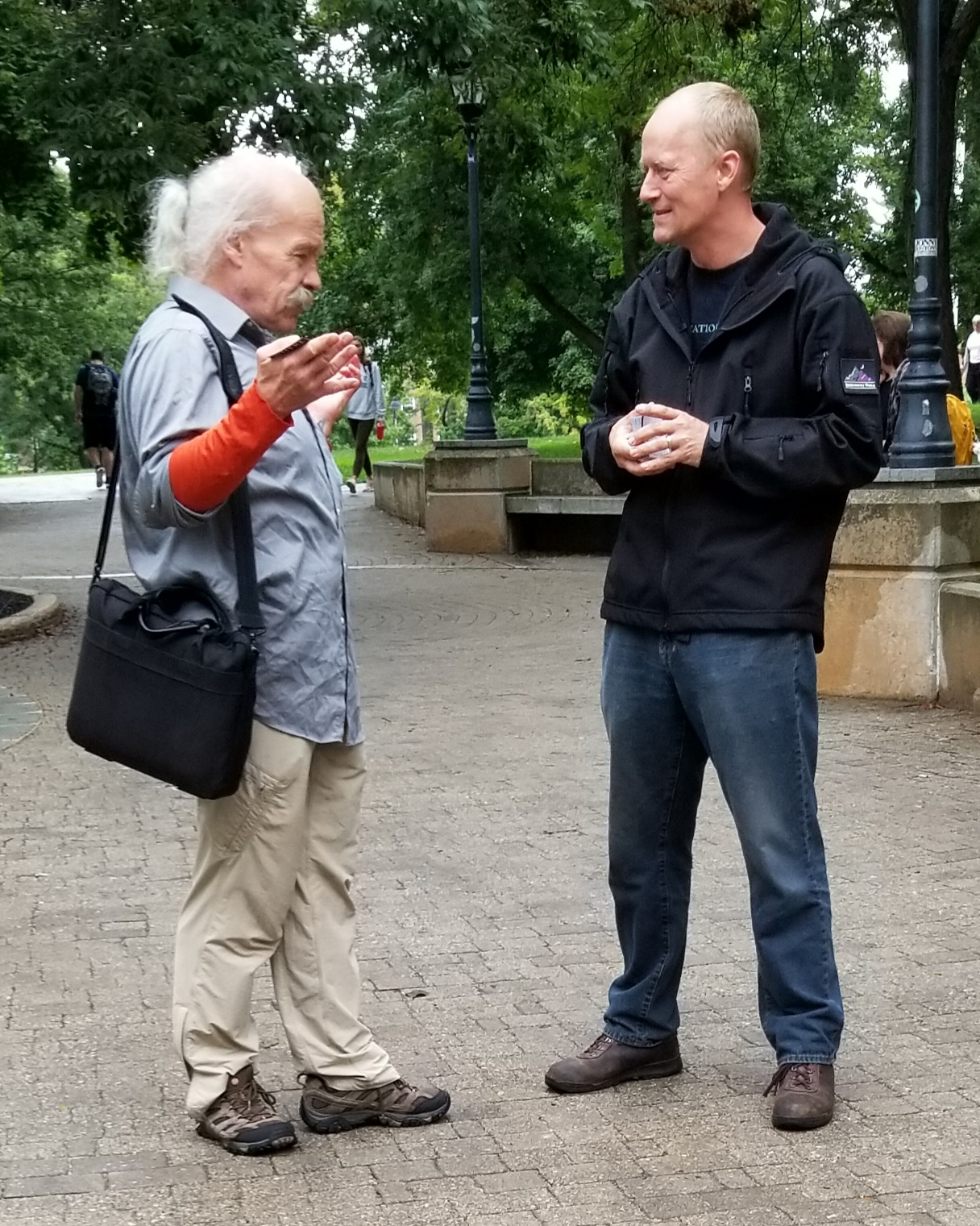We meet some unusual folks. This gentleman passionately tried to persuade Chris that Jesus never existed. Chris was patient and shared the gospel message. There's hope for everybody!