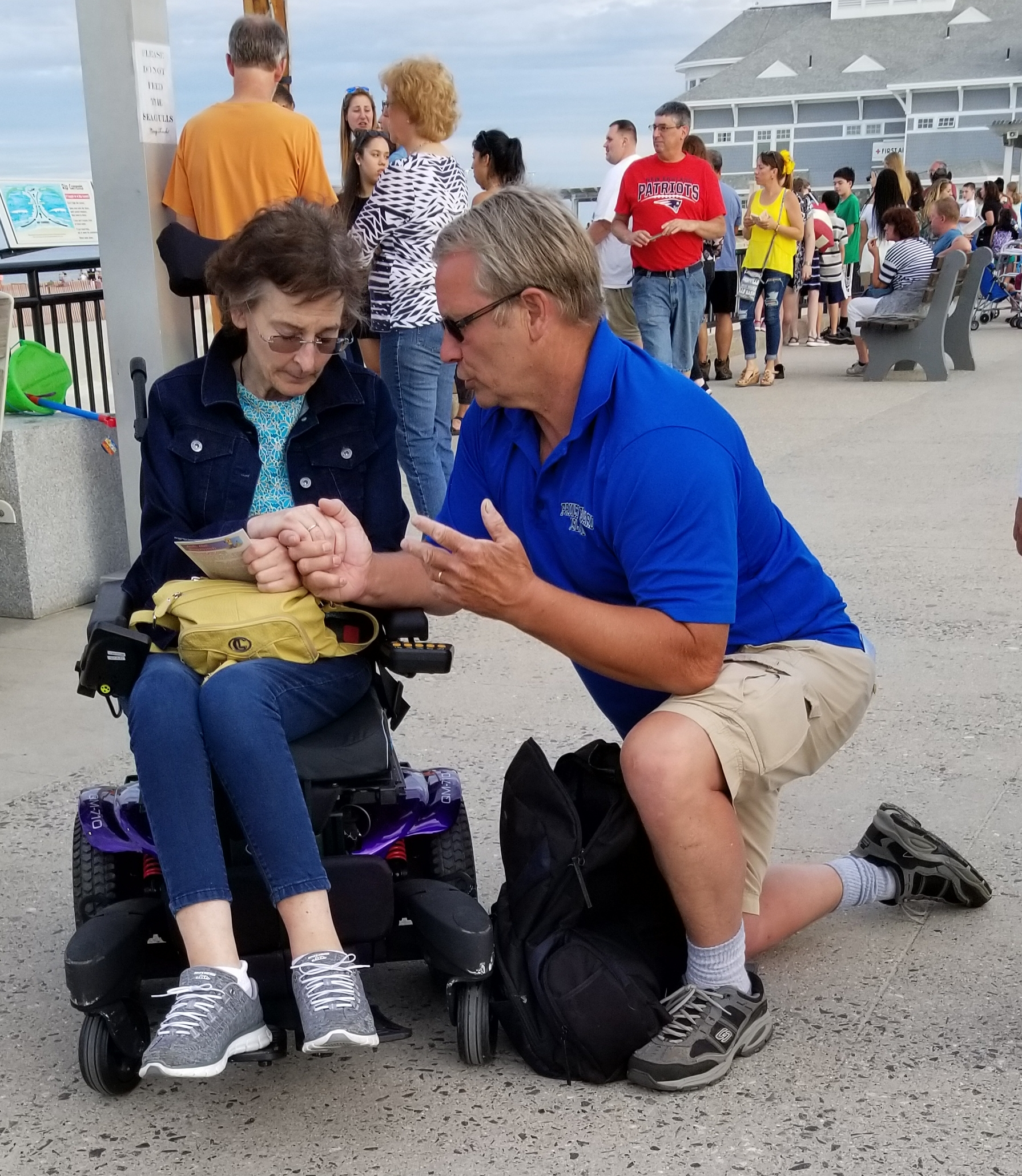 After Chloe was done explaining the gospel with Amy, Ted, one of our volunteers, spoke with Amy for some time, explaining the great news. Amy made a profession of faith right there on the beach! Please pray that Amy will be the seed that fell into good soil and bore much fruit.