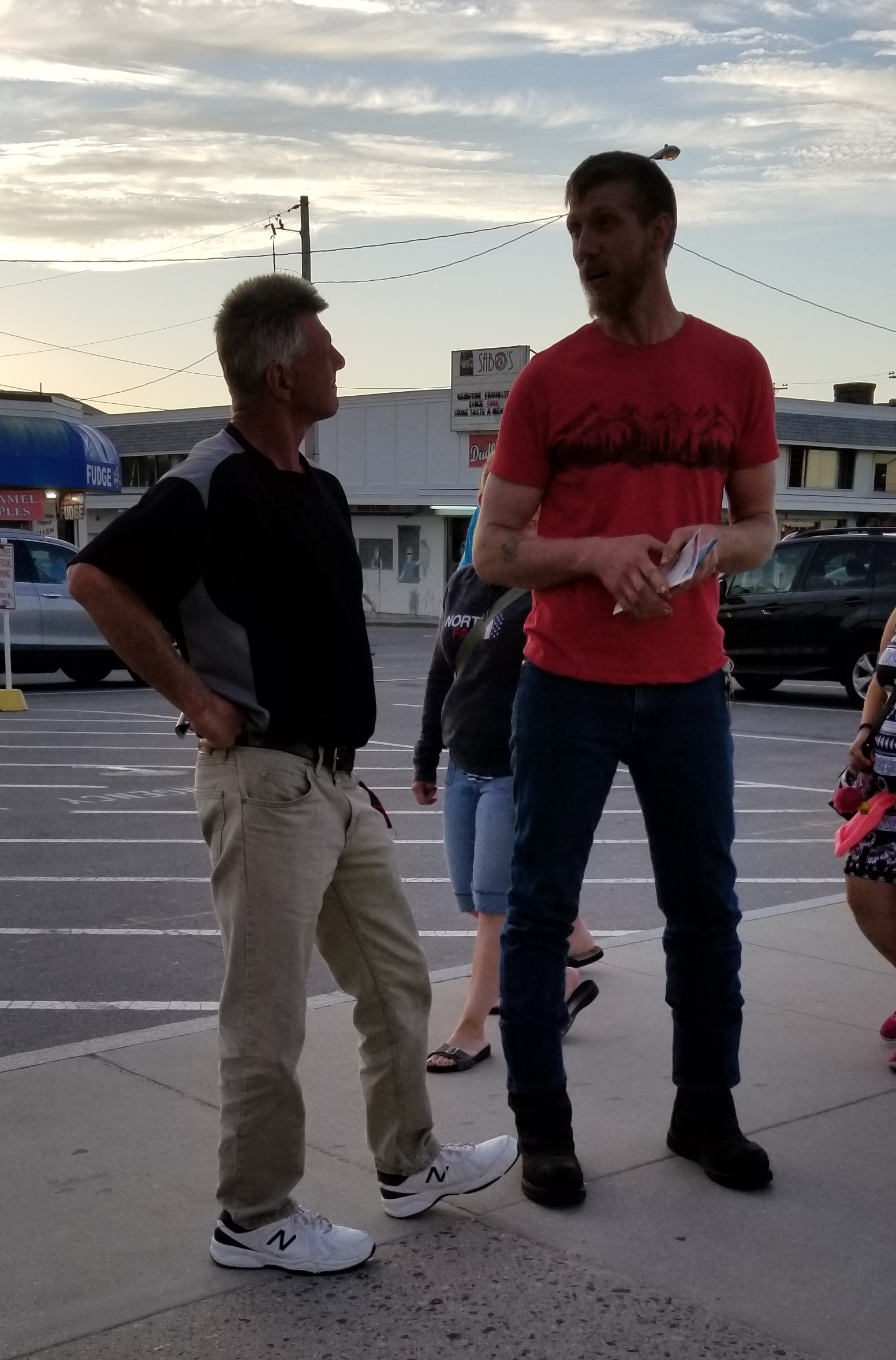 This is Lucas, another one of our volunteers (the tallest one we have!) He does a great job patiently explaining the gospel message to people.