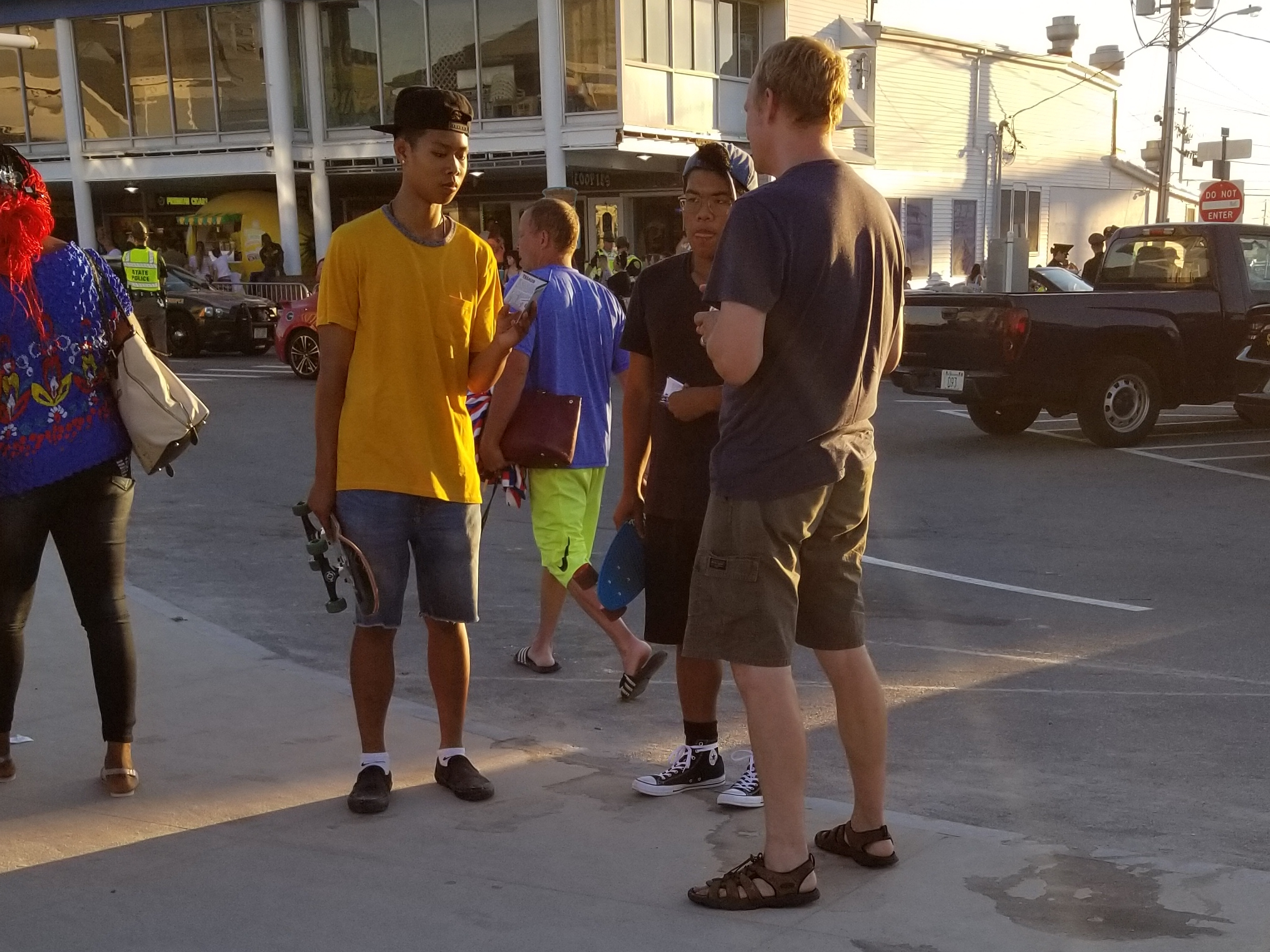 This is Kenny and Justin.  Kenny's dad is a Christian, but he's  looking into Buddhism. As Chris shared Jesus, Justin said, 'This is strange. I was playing basketball with a guy who was telling me about Jesus, and now you're telling me about Jesus too. I need to think about this.' He took an evangelistic DVD from Chris.