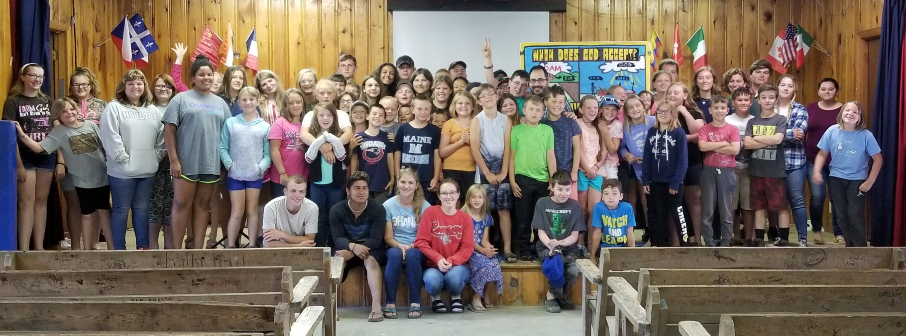 Here's the amazing Campers and Counselors who I got to share Jesus with at camp. Of the 60+ kids, 10 publicly professed to repenting of their sin and believing in Jesus for the first time. About the same number admitted to already being born again, but being distracted by the world, and they committed to get rid of any idols inhibiting them. I praise God for the tremendous work He's doing! Hallelujah!