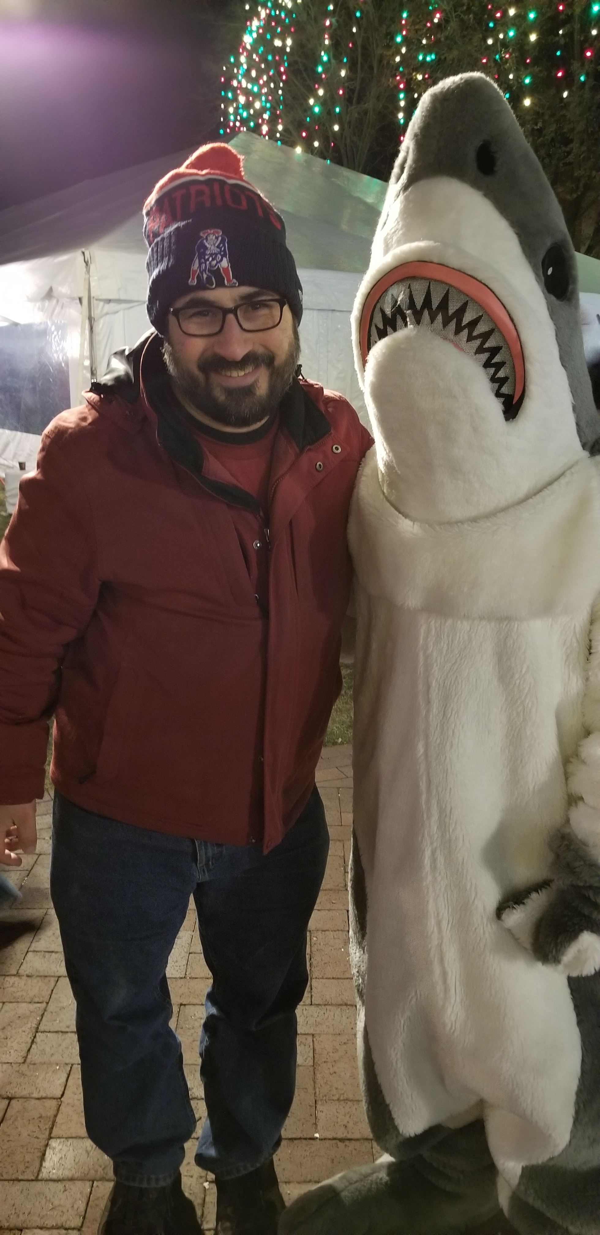 Does anyone know what this is? Get ready for the answer... It's Mark with a Shark in the Dark at the Park!!! Hahahahahahaha