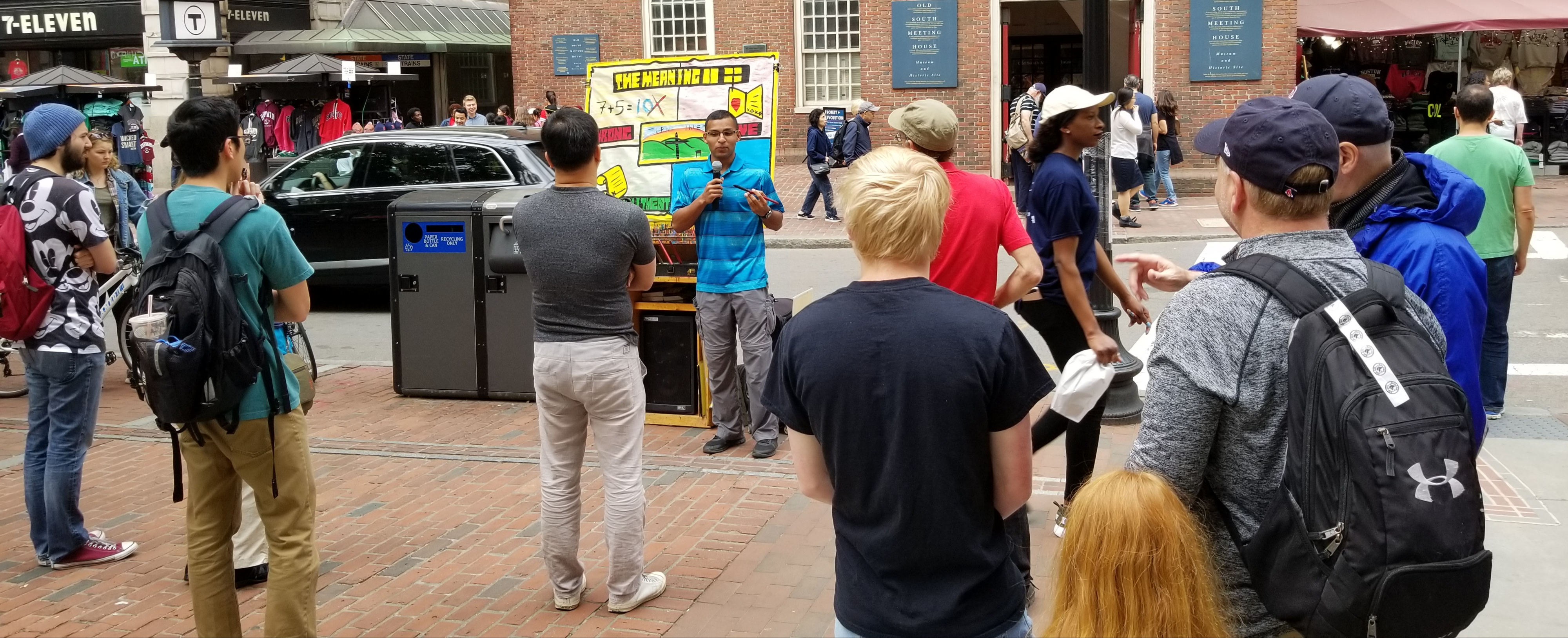 This is Daniel. He came from Costa Rica to take Open Air Campaigners training with us in Boston! This was his first time giving a message to adults. Many listened and many one-on-one discussions happened. Praise God!