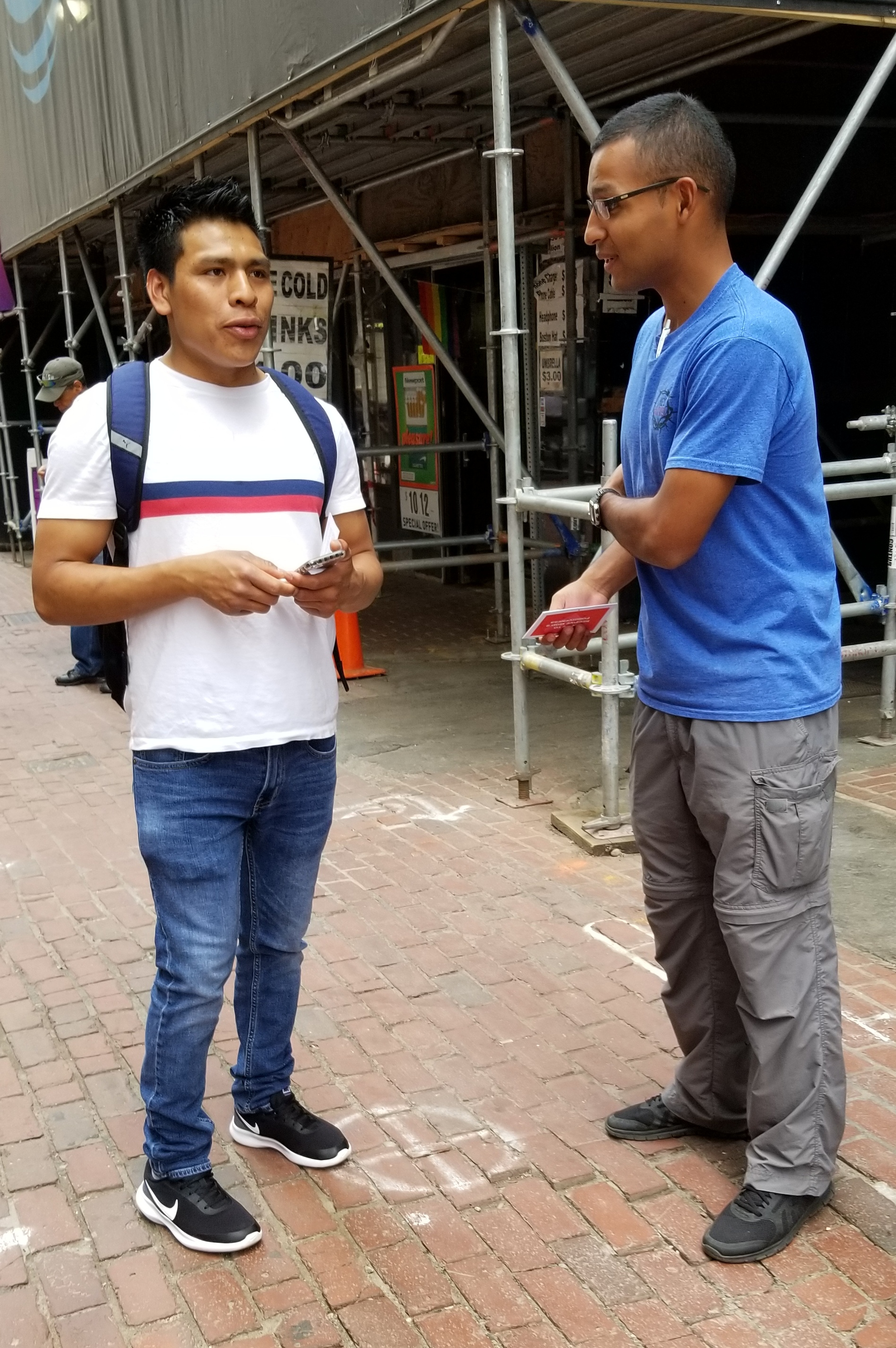 This is superb! Cesar wanted to talk to us, but his English wasn\'t very good. Thank God for Daniel from Costa Rica! He got to share the gospel with Cesar in Spanish; so cool!
