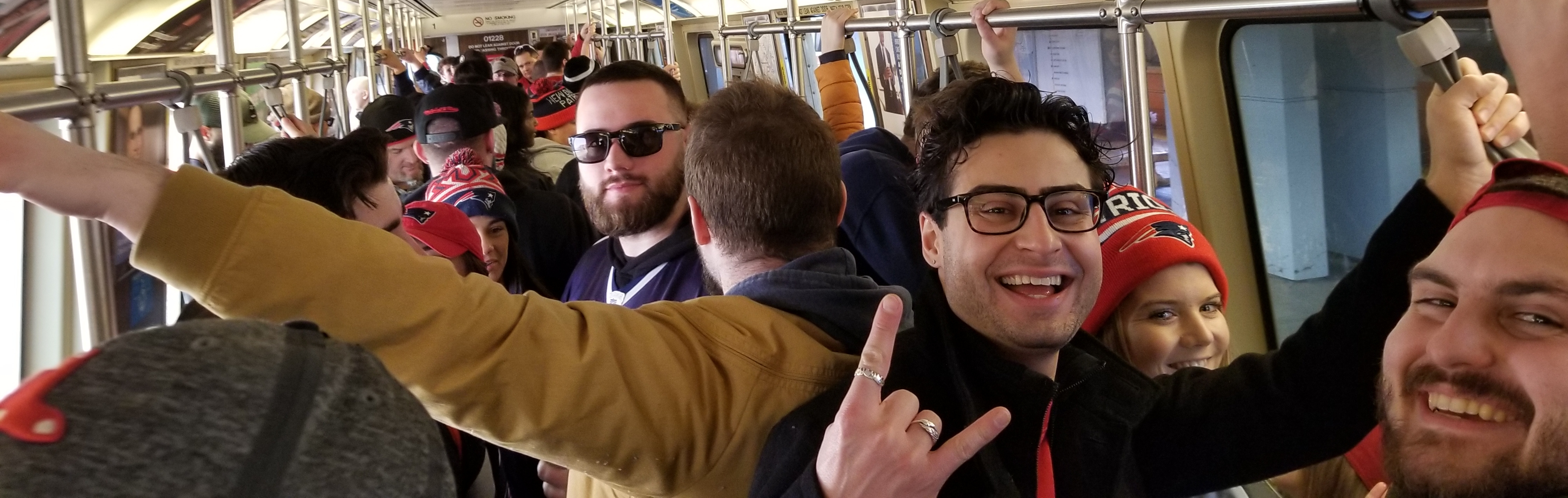 We were squished like sardines in the subway train heading to the parade. Everyone was friendly though!