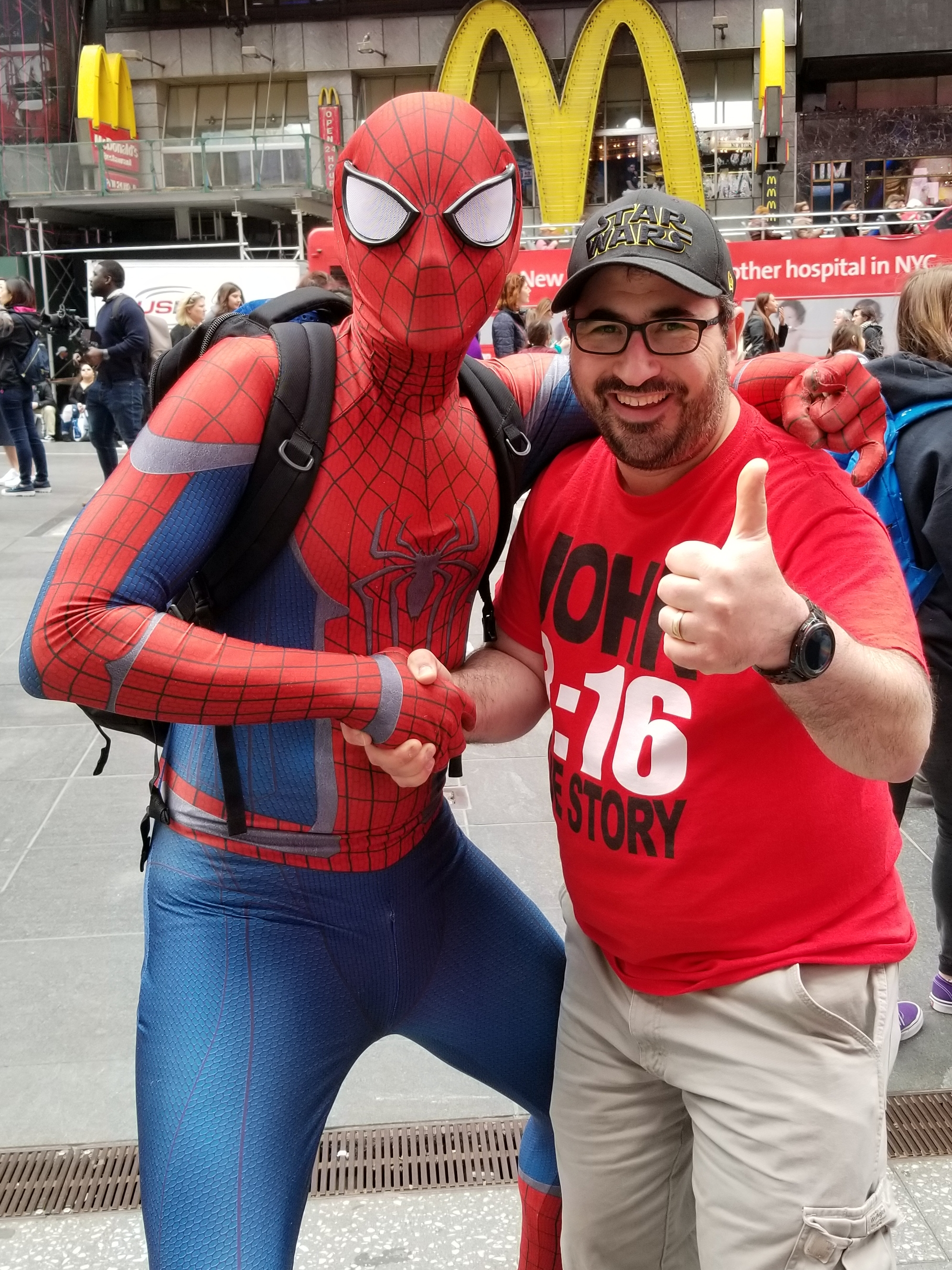 This friendly-neighborhood Spiderman actually WAS really friendly!