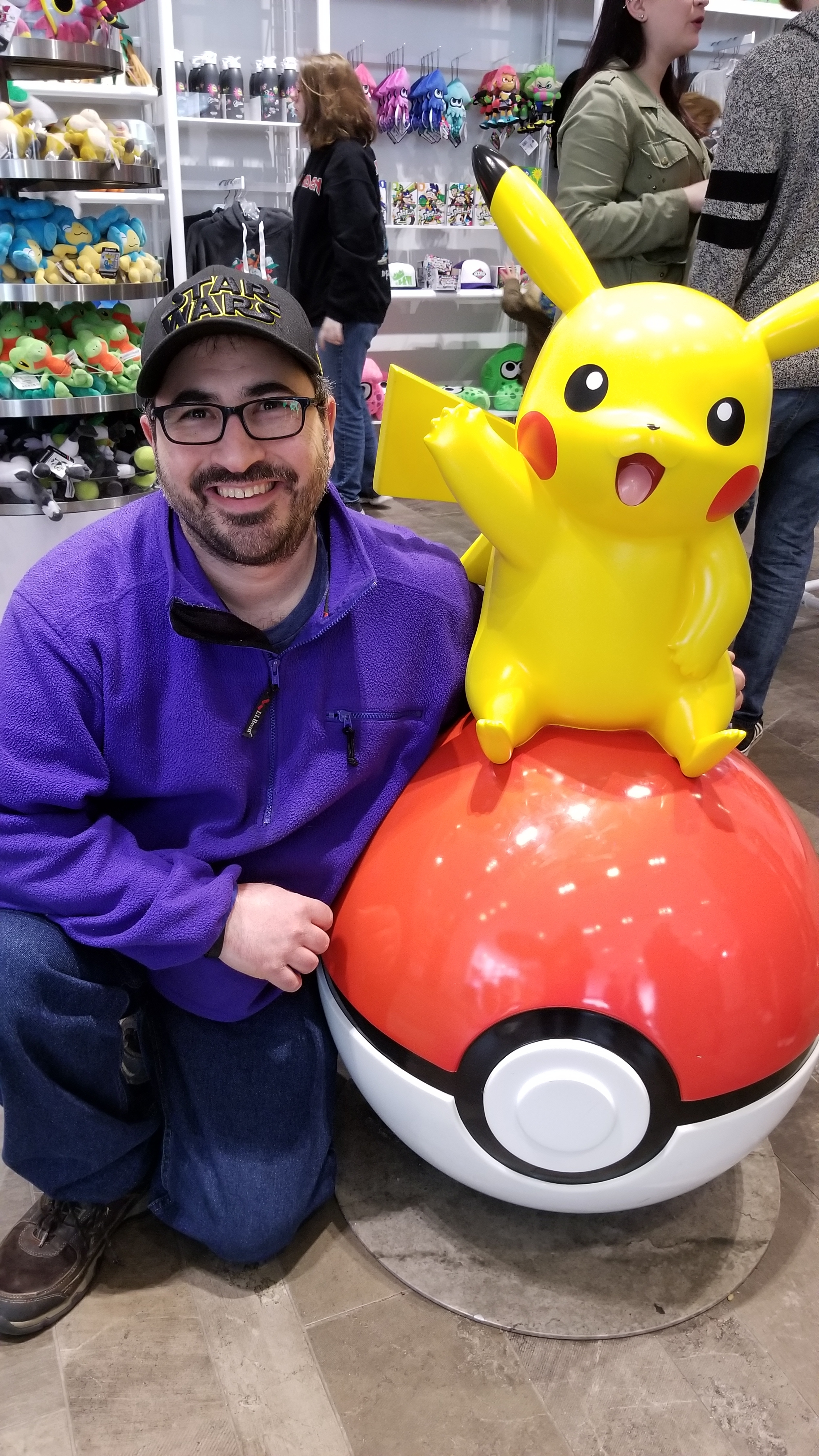 On our 'Free Day' the students wanted to go to the Nintendo Store in Rockefeller Center, and I found Pikachu.