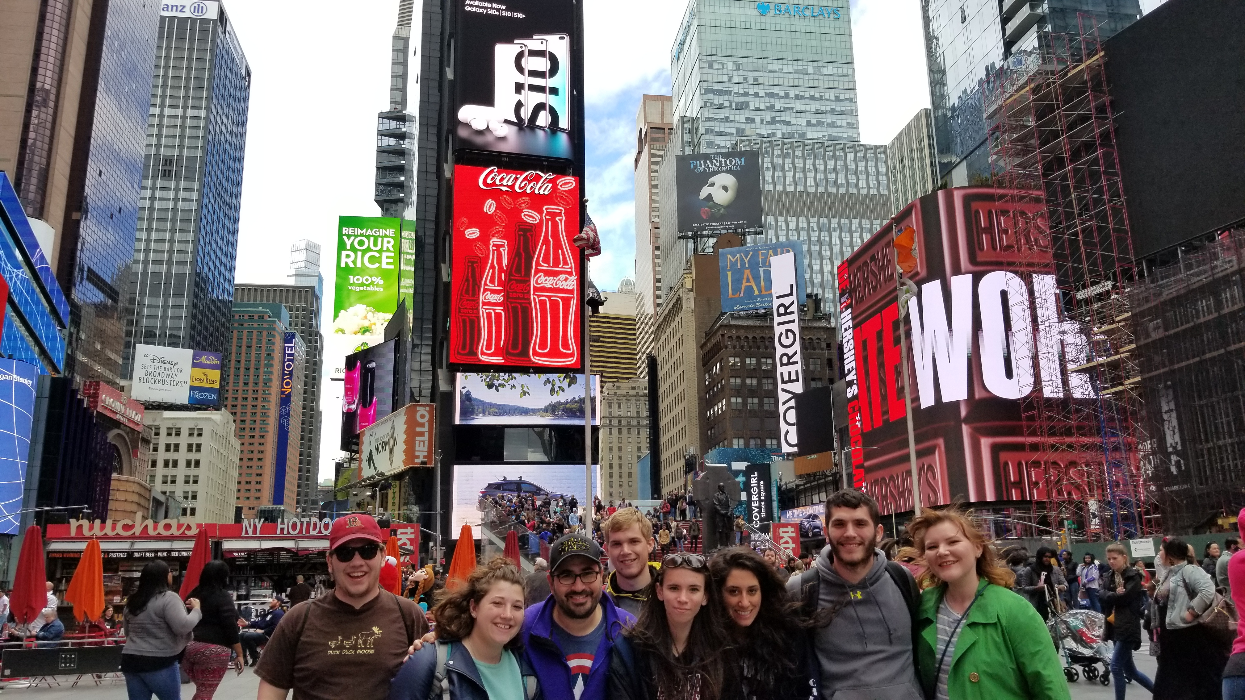 Me and my team of hooligans in Times Square on Sightseeing Day.