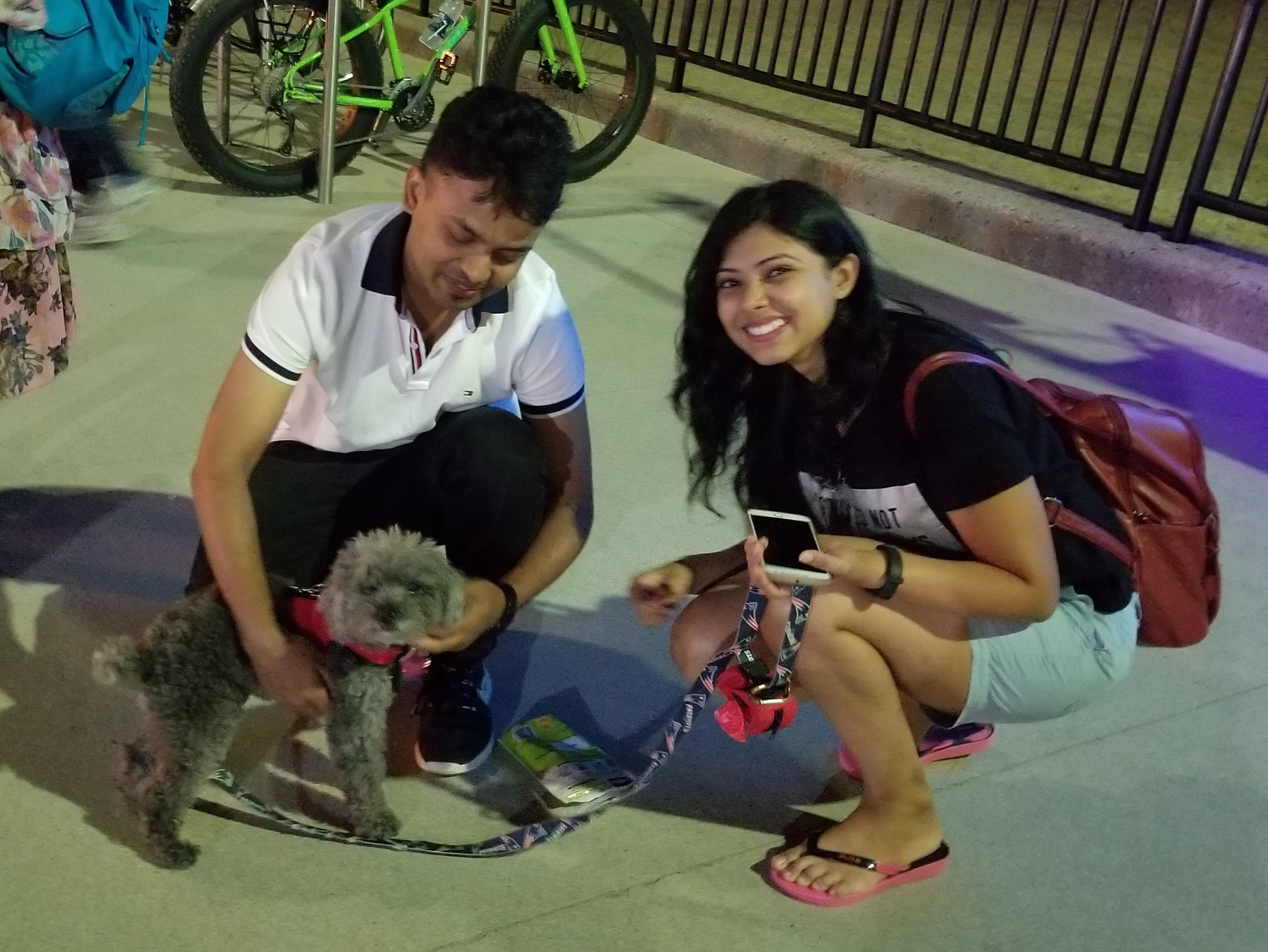 As you can see, they went nuts over Jarvis, and kept petting him and having their photos taken with him. :)