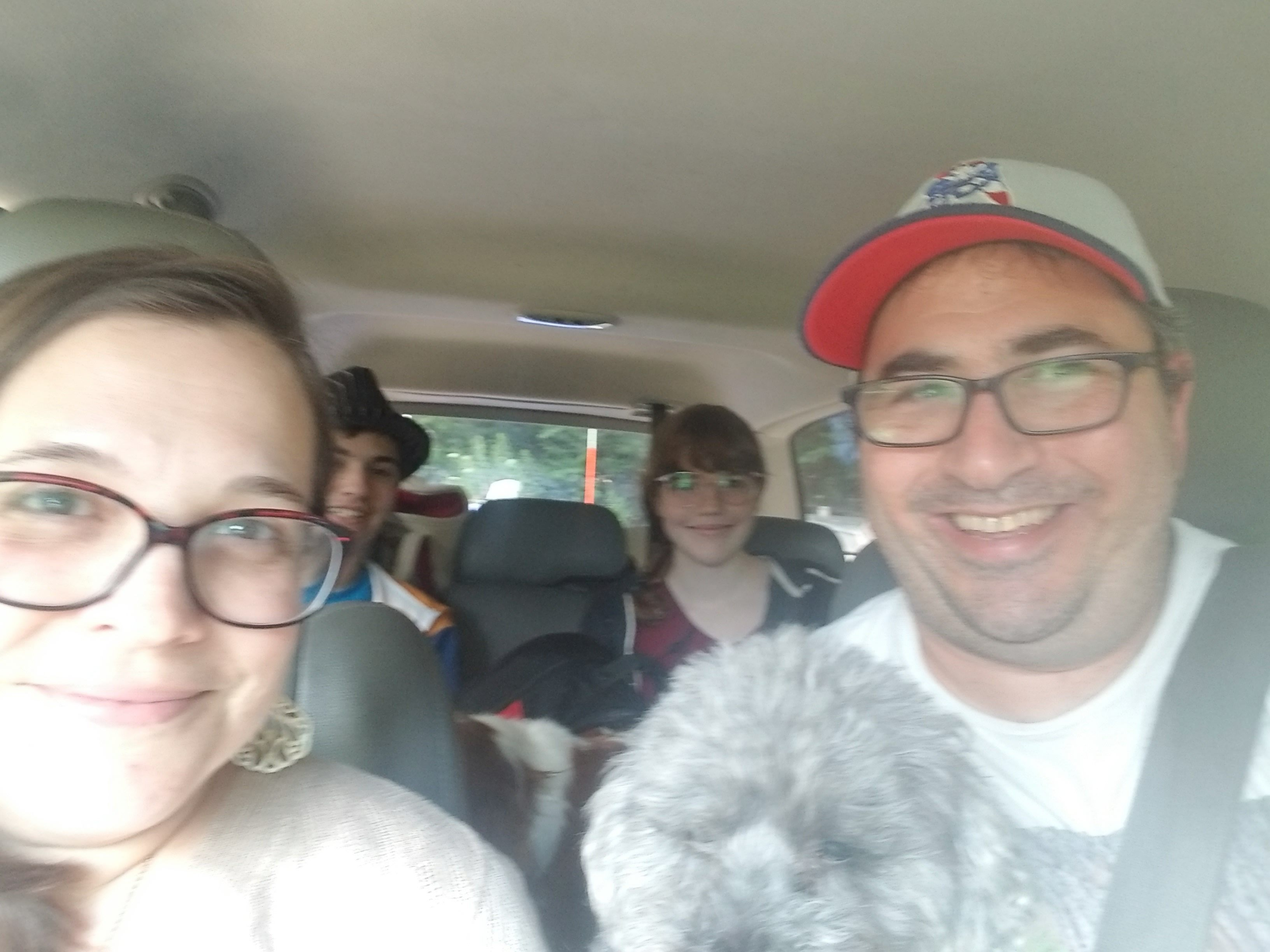 On our way to camp - a six+ hour drive!