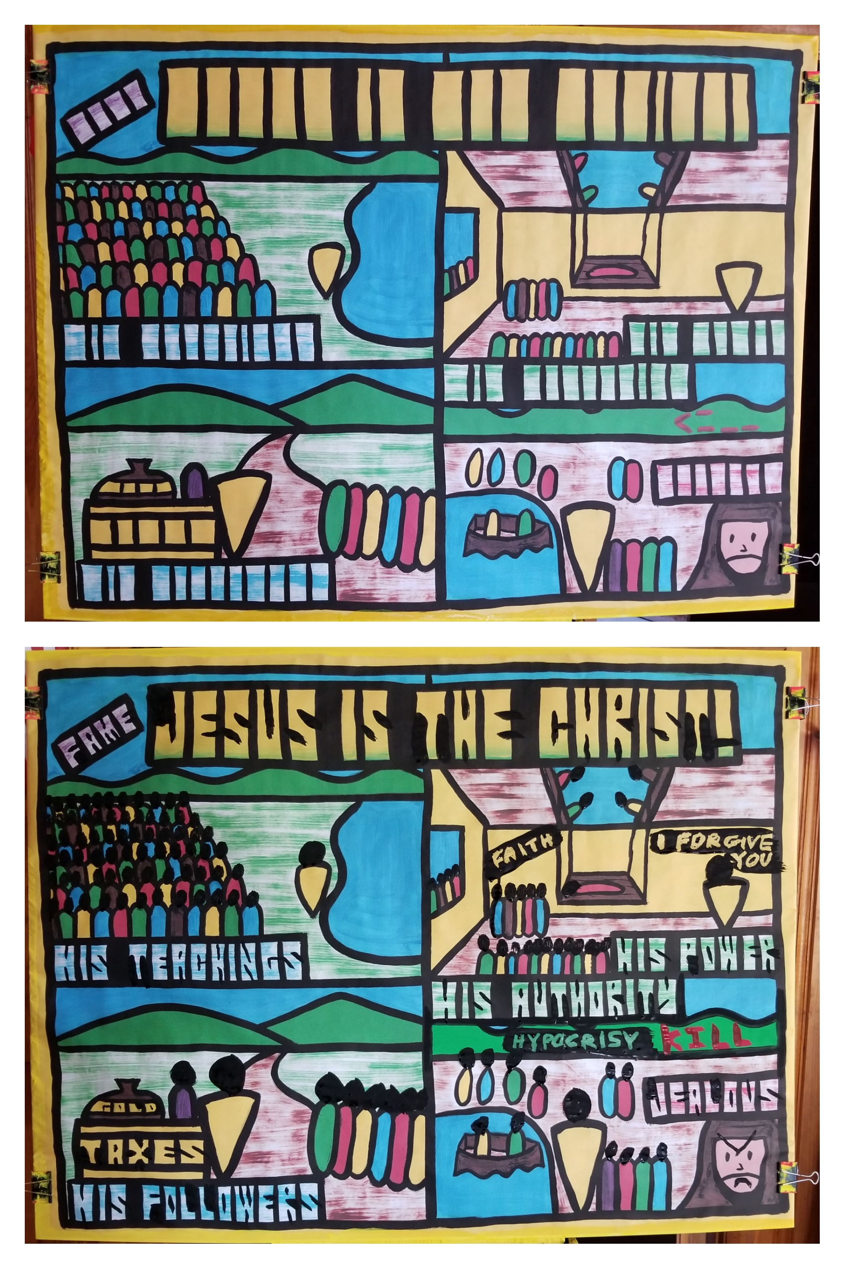 "Part 3 of 5 in the ""Early Ministry of Jesus."" This lesson showed over and over again that ""Jesus is the ""Christ.""  ""Christ"" isn't Jesus' last name. It's His title. It means ""King."" It means He's ""in charge"" of us and everybody and everything.   Jesus gained fame through His teachings and His power. Thousands came to hear Him. He taught the same things we teach from the Bible today.   He showed amazing power. One day a home where he was teaching was so packed with people, that some people opened up the roof to let down a man who needed healing.   Jesus saw their faith by their actions, and healed the man, and forgave his sins. Only God can forgive sins. Jesus is God.  Jesus picked special disciples. He even chose despicable people like tax collectors. God can use and change anyone!   But there was a traitor within the disciples. Judas was a hypocrite. He looked like he was following Jesus on the outside, but not on the inside. We must never be hypocrites ourselves.   The religious leaders were jealous of Jesus and wanted to kill him.   It's an honor to teach these children such important Bible accounts!!!"