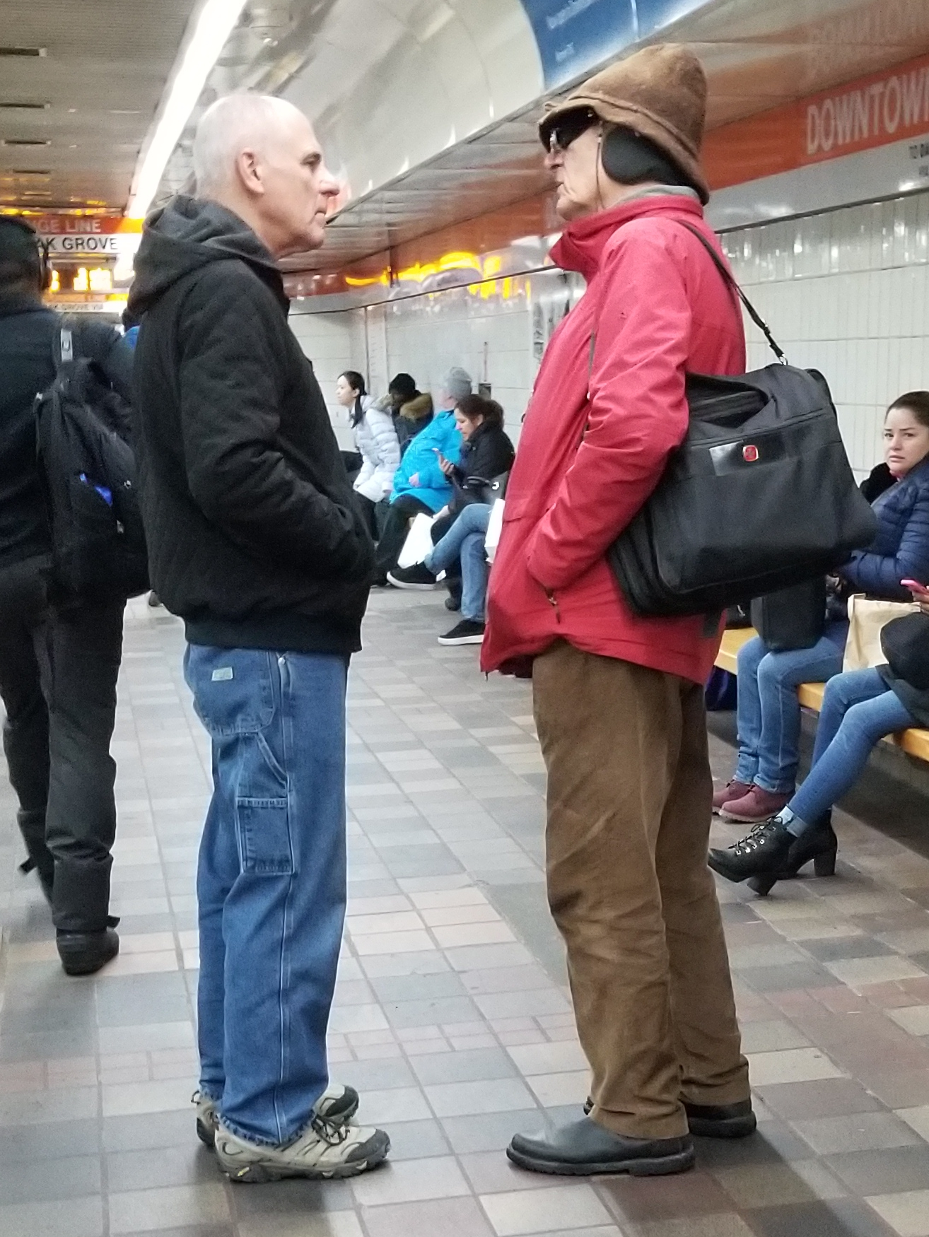 This gentleman (right) spoke of belief in 'The Divine.' Eric (left) asked him questions about 'The Divine.' The man said 'The Divine' was unknowable. So Eric asked him about sin and justice. The man said that 'The Divine' doesn't care about sin and justice and we can do whatever we want. Eric wisely asked, 'You said The Divine is unknowable, but you claim to KNOW that The Divine doesn't care what you do.' It was a friendly conversation and a seed was planted. Please pray for this man. We sadly didn't get his name but God knows who he is.
