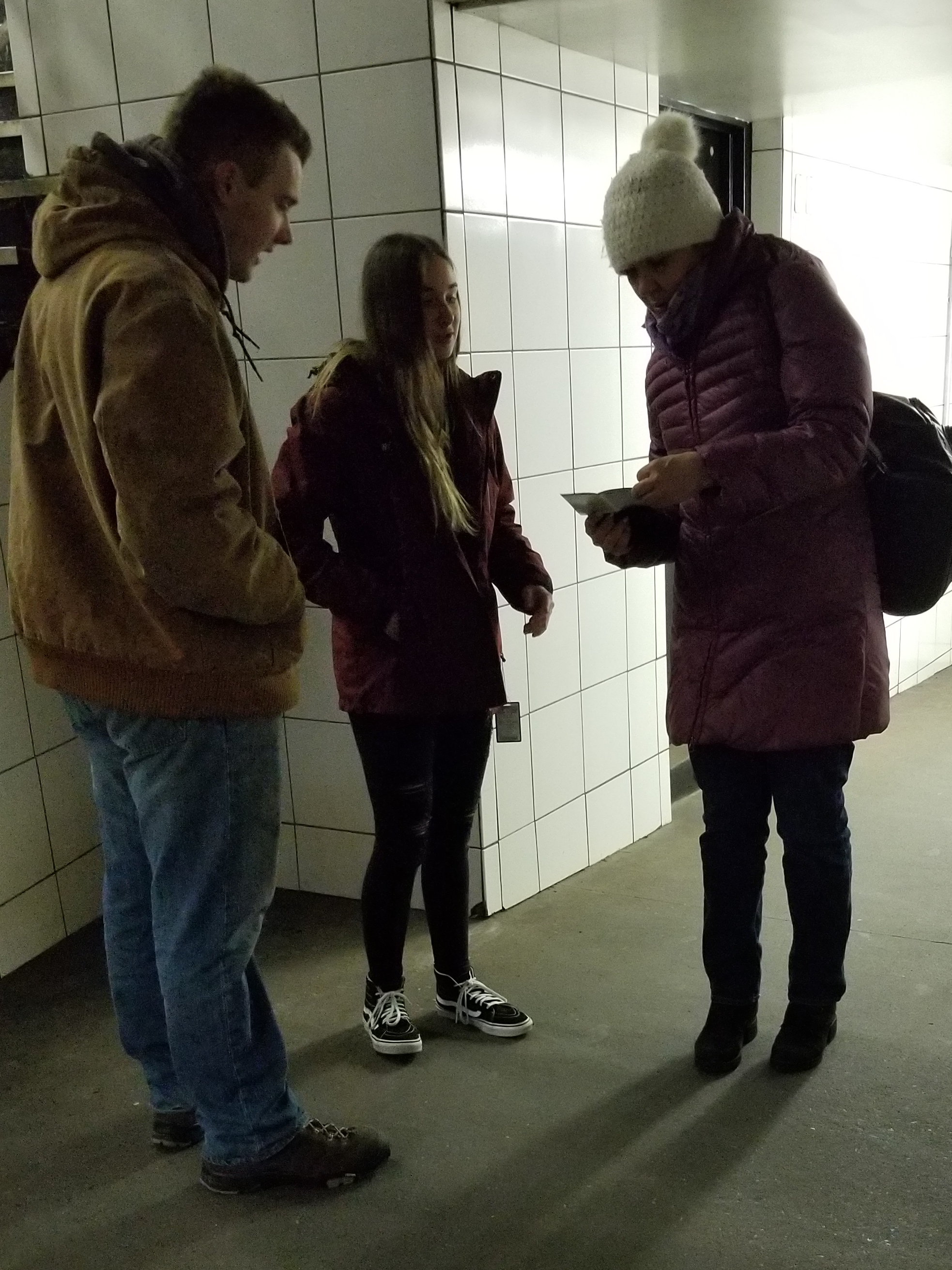I and K handed this woman a Gospel booklet and she asked them what it was about right there on the spot! :)