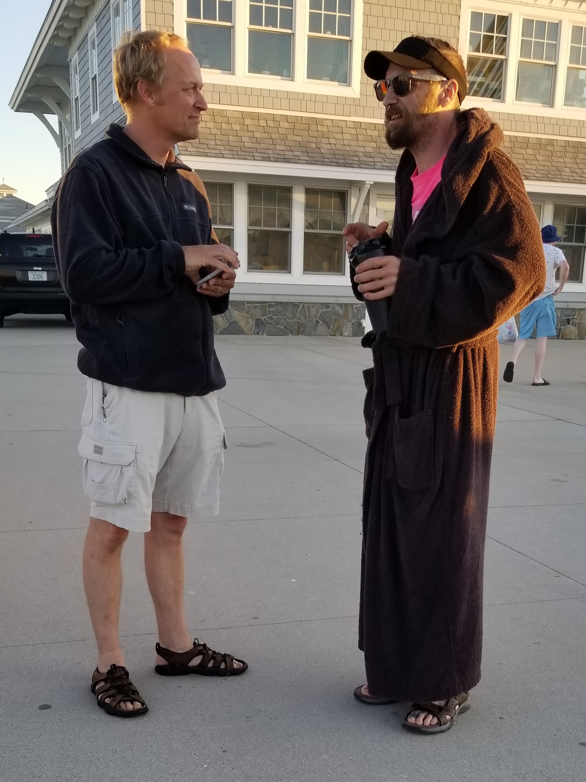 God seems to send the strangest people to Chris - it happens all the time! This unique man believes in aliens but not Jesus. Chris was able to share the Gospel quickly, but sadly he wanted to leave when the Gospel came up.