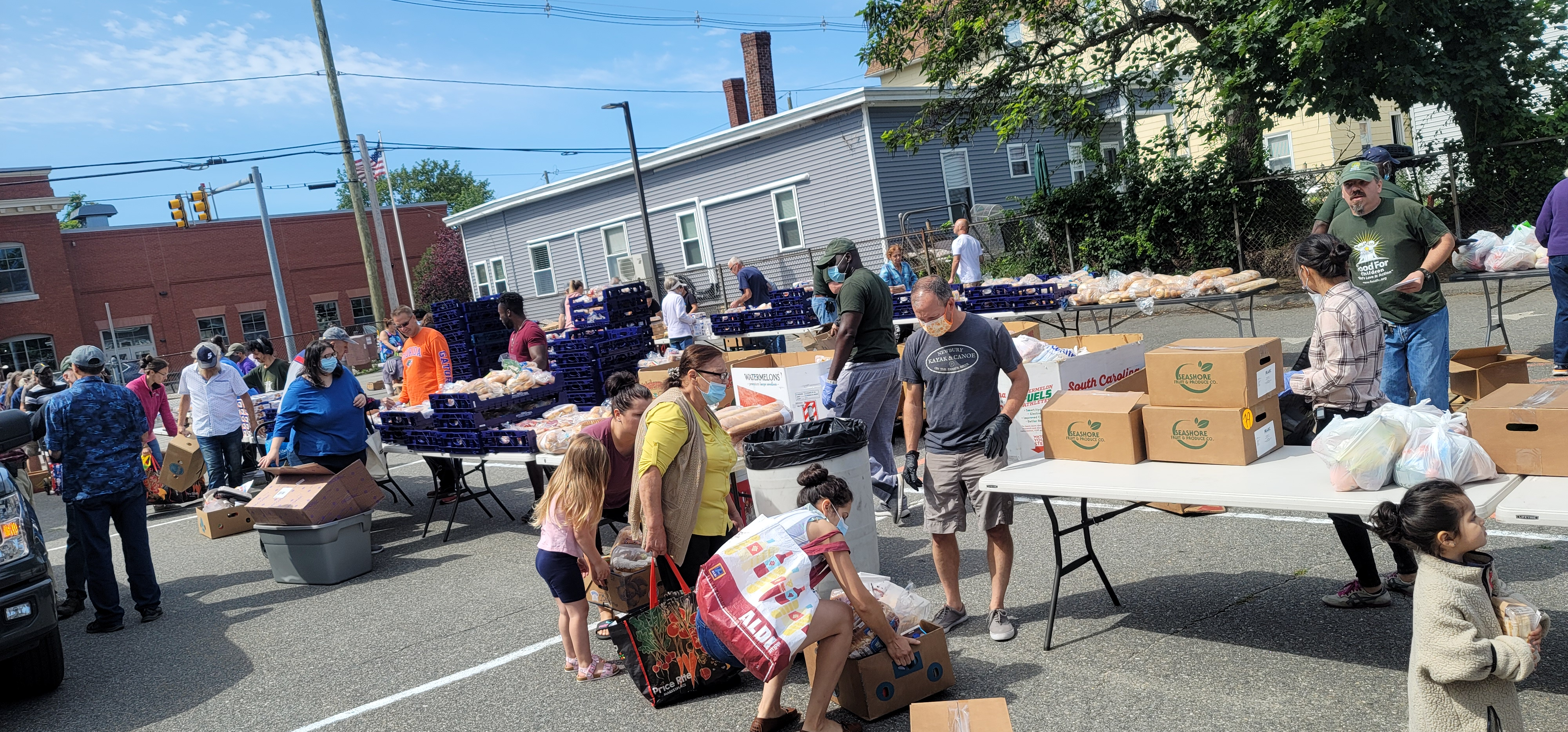 This isn't all the people who came and heard. Because of COVID-19, they have been spacing out the people who can go through the line. Food For Children does an OUTSTANDING job getting food for people. It's amazing. And they hear the Gospel, and that's eternal.